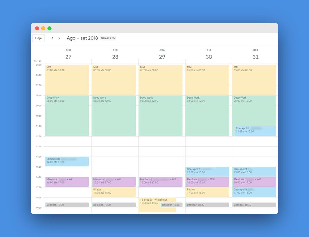 calendario de mentoria
