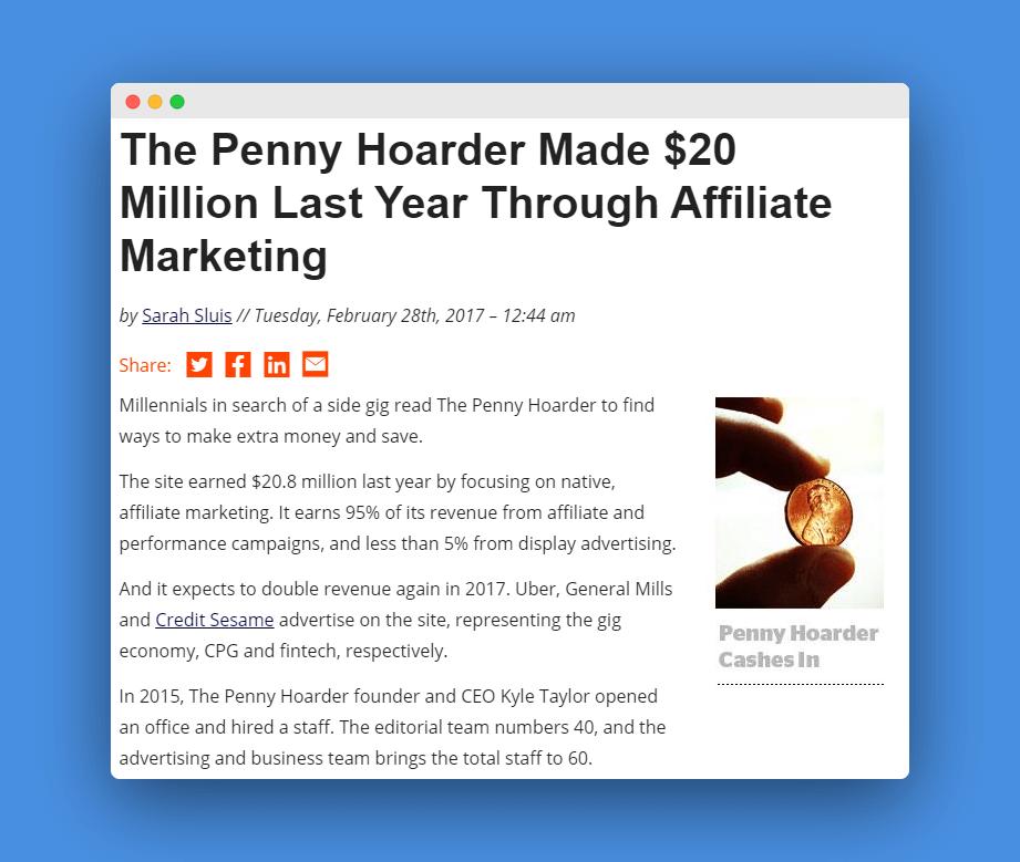 case afiliado penny hoarder